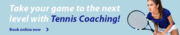 Take your game to the next level with Tennis Coaching - Book online now