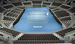 Centre Court in Pat Rafter Arena